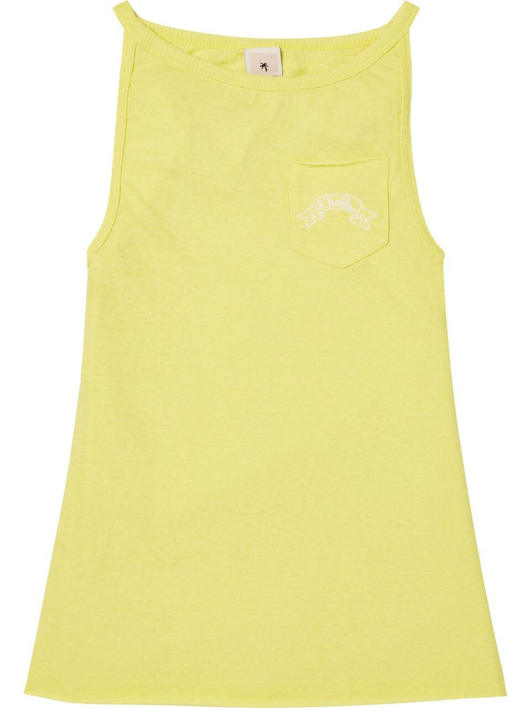 Scotch R'Belle Yellow CalCotton Linen Blend Tank