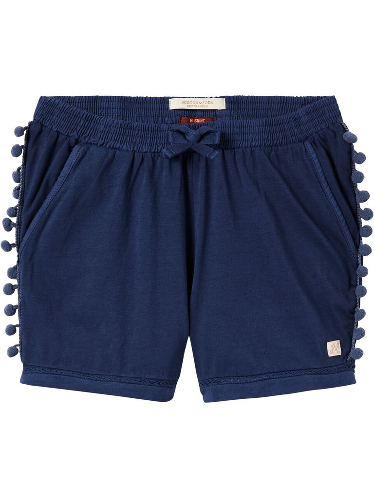 Scotch R'Belle Jersey Shorts With PomPoms