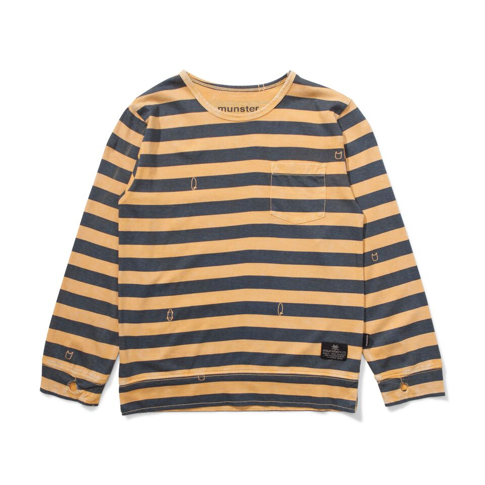 Munster Blades Long Sleeve Tee - Washed Mustard