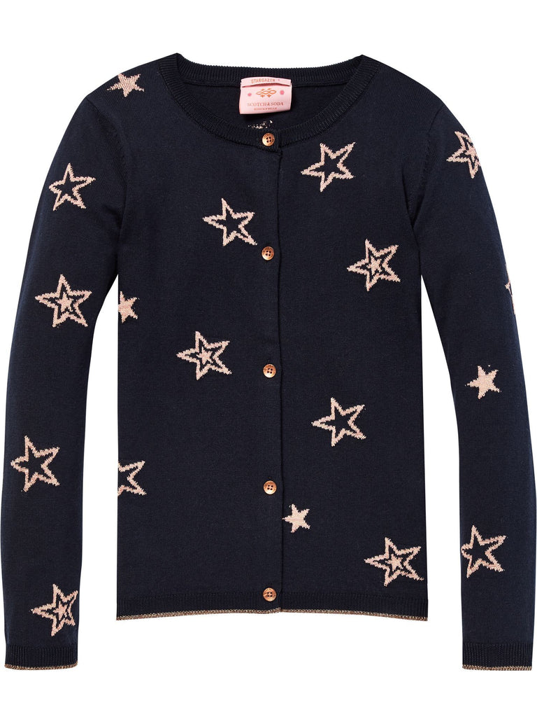 Scotch R'Belle Navy Cardigan With Gold Stars