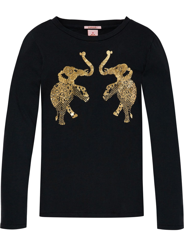 Scotch R'Belle Long Sleeve Tee with Elephant - Antra