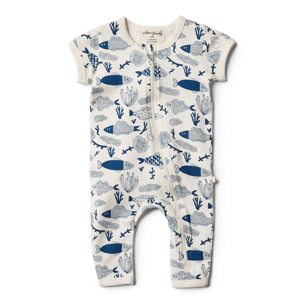 Wilson & Frenchy Organic Little Fin Zipsuit