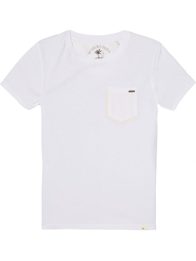 Scotch Shrunk Garment Dye Tee with Pocket - White