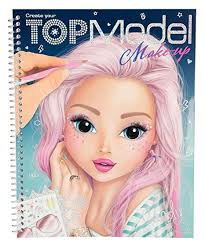 Top Model Makeup Colouring Book
