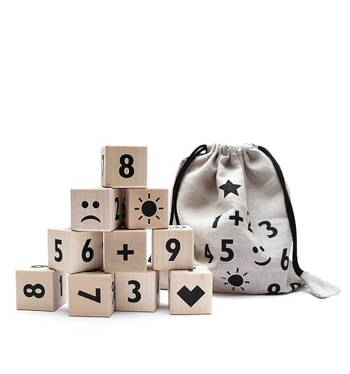 Maths Blocks - Black