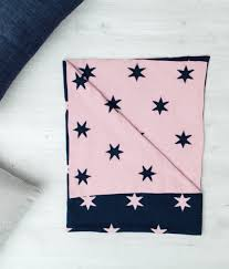 Gingerlilly Baby Star Blanket - Pink/Navy