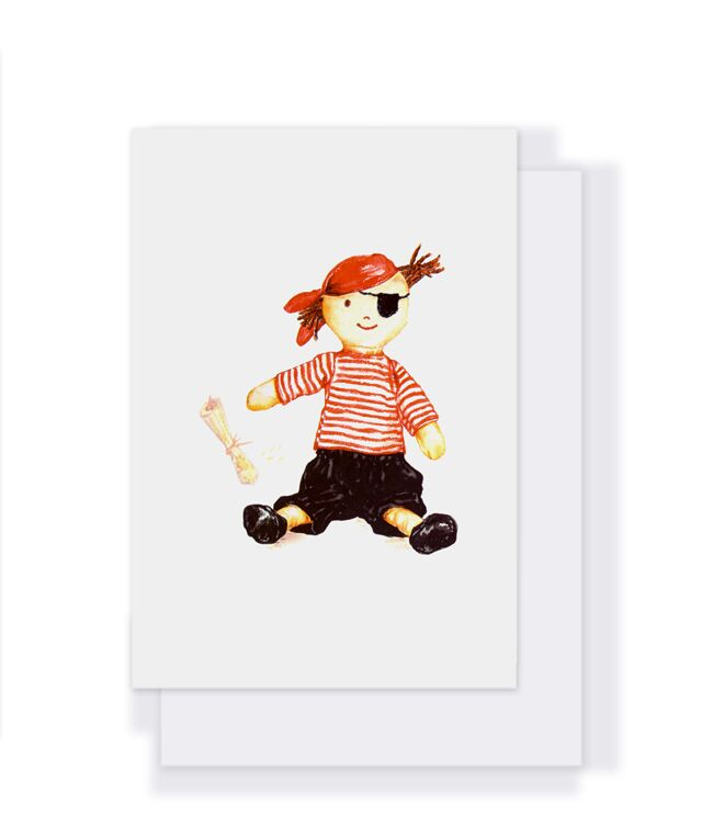 Nana Huchy Card - Boris the Pirate