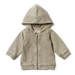 Wilson & Frenchy Hooded Jacket - Washed Putty