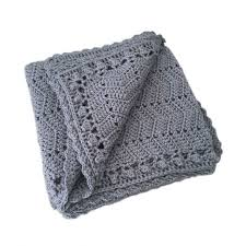 O.B. Designs Ripple Blanket - Grey