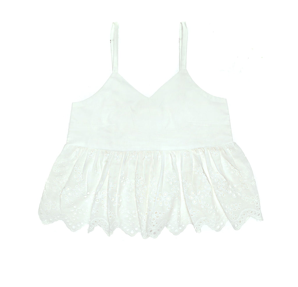 Coco & Ginger Sunshine Top - Gardenia & Lace White