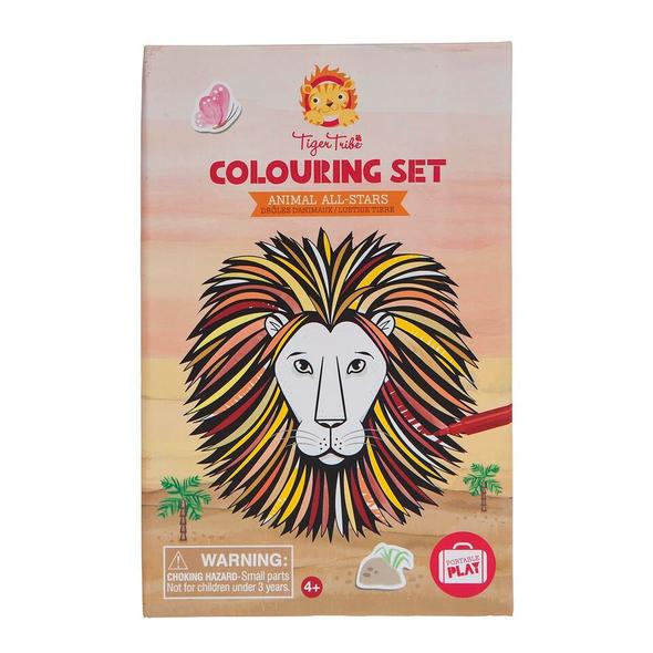 Tiger Tribe Colouring set Animal All Stars