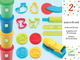 Djeco Intro 4 Dough Tubs Kit