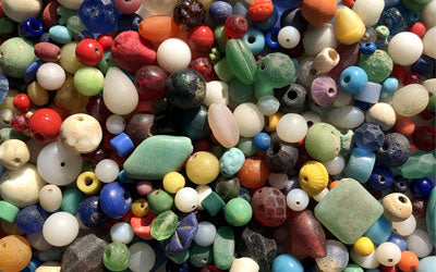 Mudlarking: Colorful Glass Beads