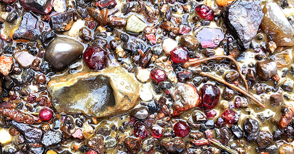 Mudlarking:  The Mystery of the  Thames Garnets