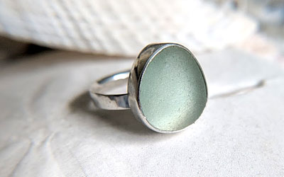 How to bezel set sea glass
