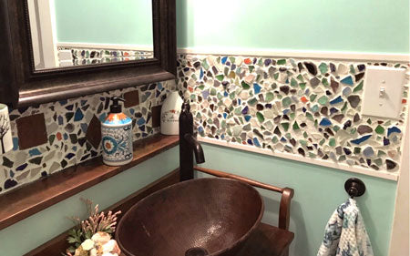 The Beach Glass-ed Bathroom