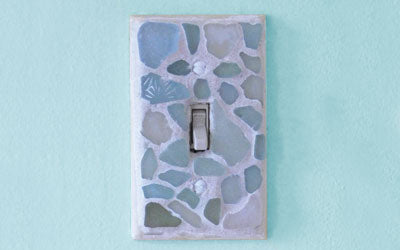 Sea Glass Switch Plate Cover Craft How To