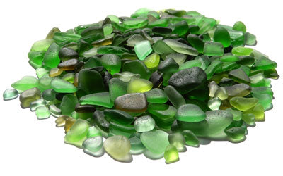 Why so many sea glass greens?