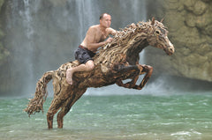 James Doran Webb with Jumping Driftwood Horse