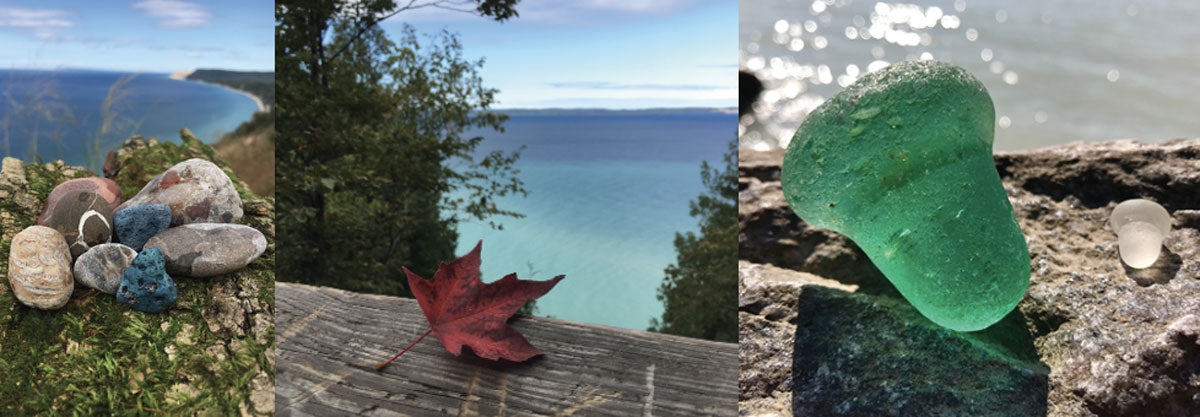 great lakes beach glass and stones