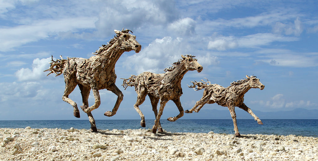 James Doran Webb Driftwood Horses