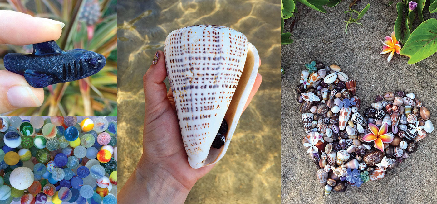 hawaiian seashells and sea glass from @mauibelle