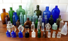 historic antique glass bottles river thames