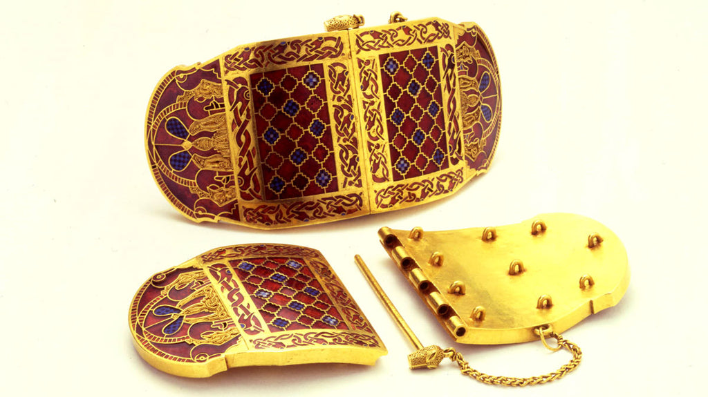 Anglo-Saxon jewelry from Sutton Hoo burial, England