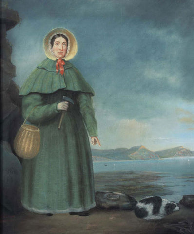 portrait of paleontologist Mary Anning