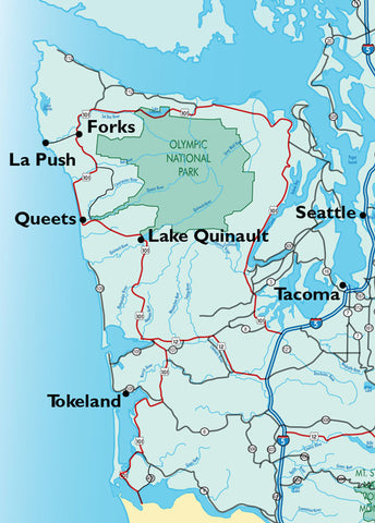 map of olympic peninsula beachcombing route