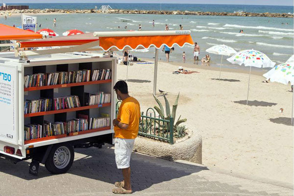 Bookmobile in Tel Aviv