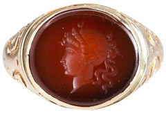 Victorian intaglio ring MasterMinds Jewelry