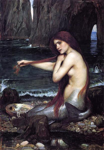 John William Waterhouse,  A Mermaid, 1900