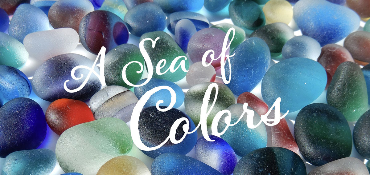 sea glass and beach glass colors