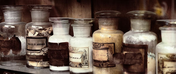 antique medicine jars