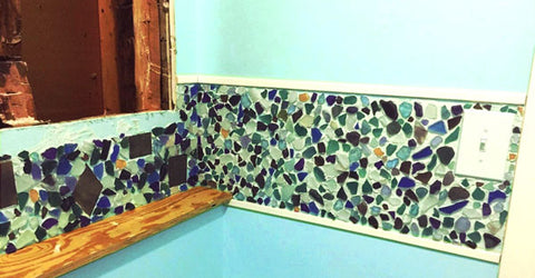 grouting sea glass