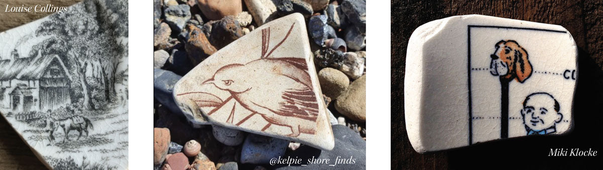 sea pottery with animals on it