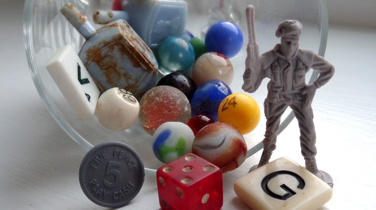 toys and game pieces found on beaches
