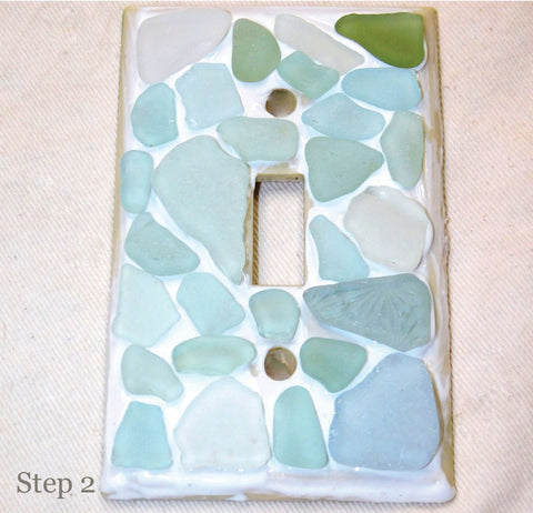 beach glass craft step 2