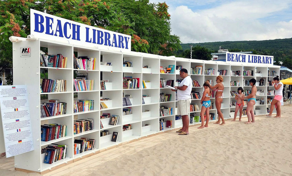 free library on the beach