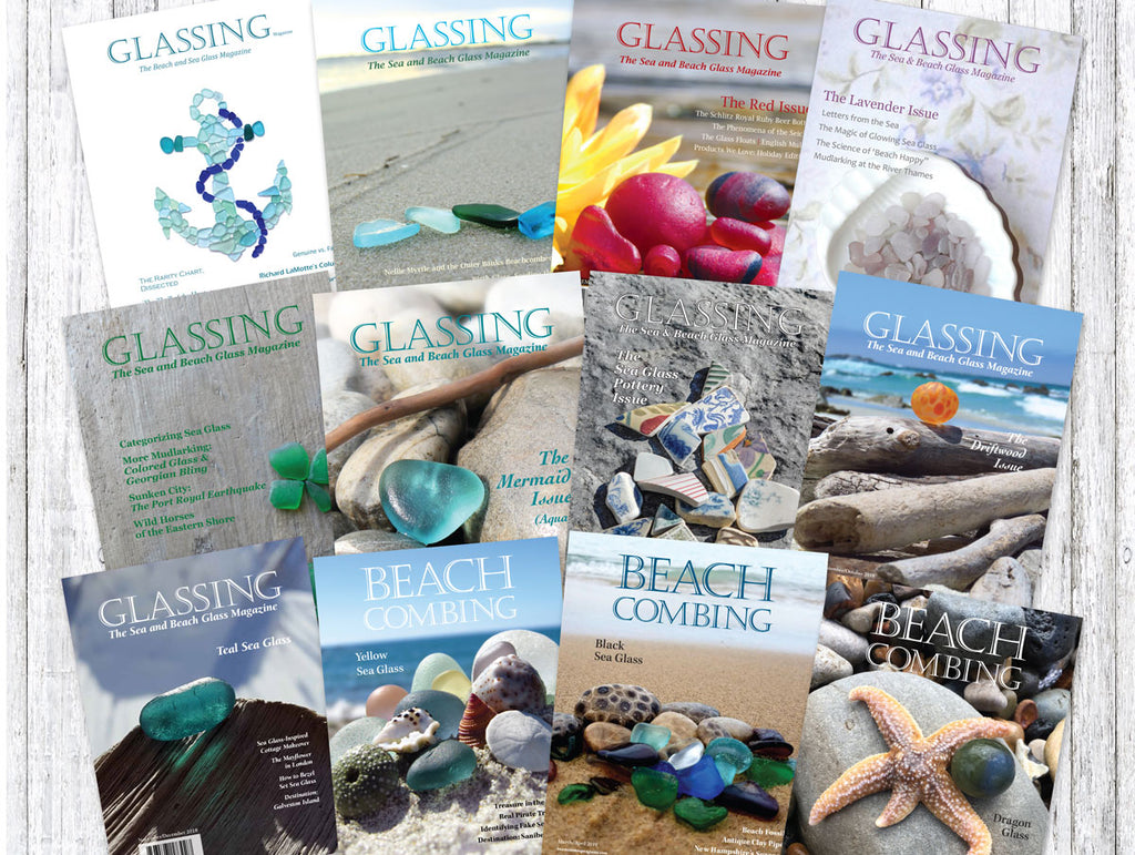 glassing magazine beachcombing magazine covers