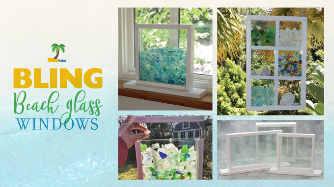 Bling Beach Glass Windows