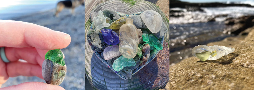 bonfire beach glass