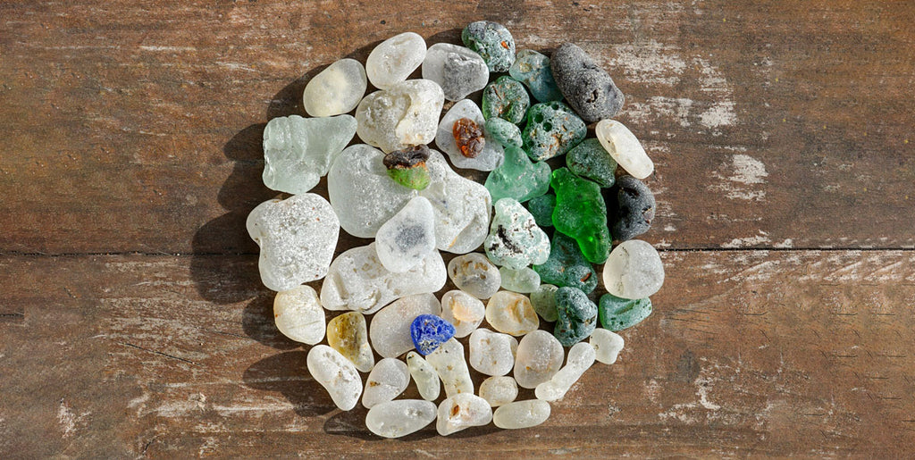 melted sea glass