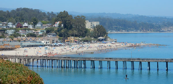 capitola beach and wharf