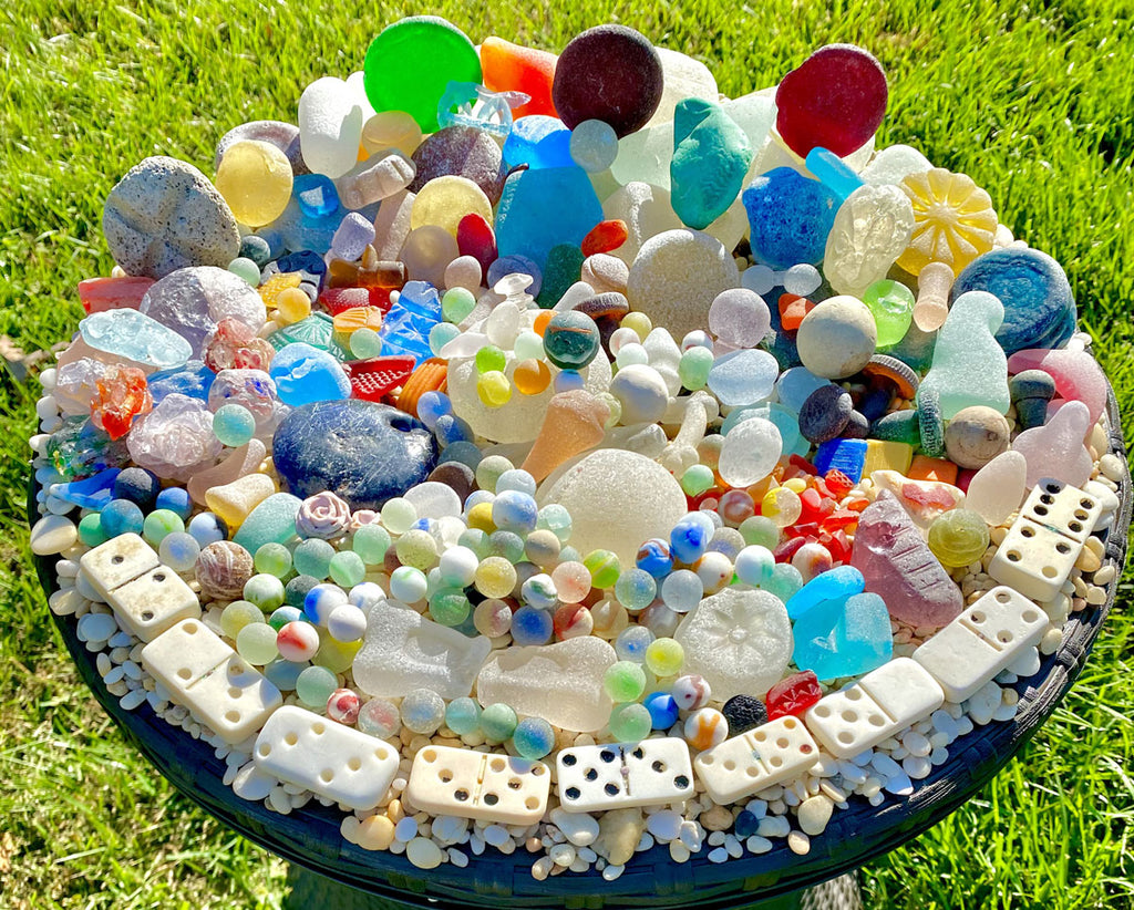 gorgeous sea glass and beach glass collection