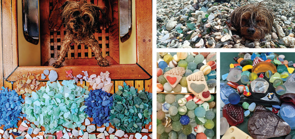 sea and beach glass collection from the caribbean