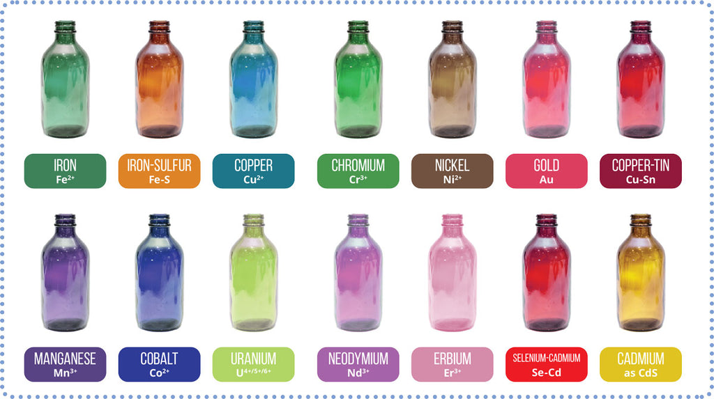 chart of glass colors
