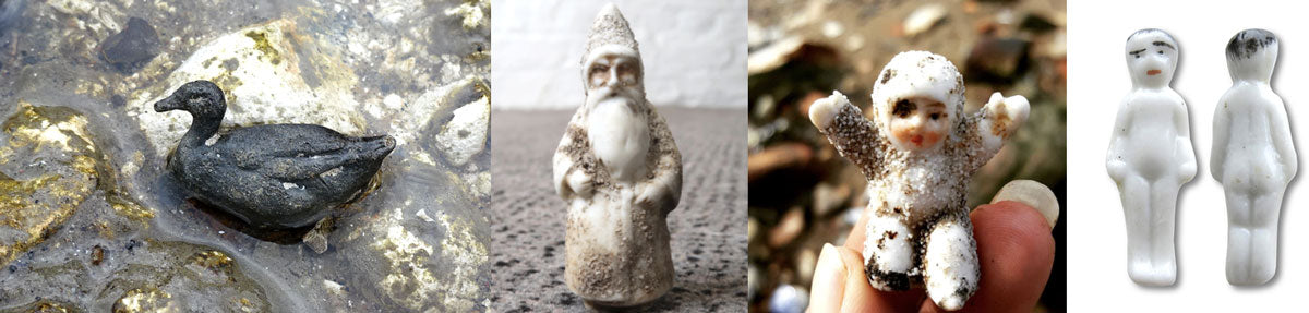antique animals and dolls found in the thames london