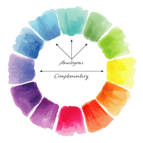 color wheel analogous and complementary colors